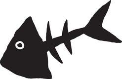 Primitive fish skeleton Stock Photography