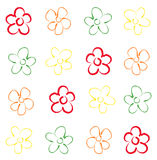 Primitive floral seamless pattern Stock Images