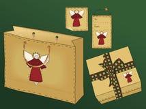 Primitive Folk Art Gift Set Stock Photos