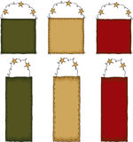 Primitive Folk Art Gift Tag Set Royalty Free Stock Photography