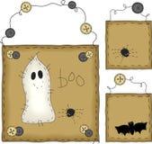 Primitive Folk Art Halloween Set royalty free illustration