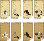 Primitive Folk Art Sticker Set Royalty Free Stock Photo