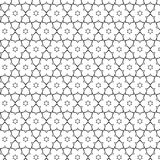 Primitive geometria sacra retro pattern with lines and circles. Stock Photos