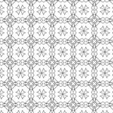 Primitive geometria sacra retro pattern with lines and circles. Royalty Free Stock Images
