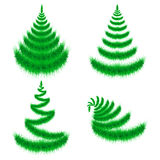 Primitive green Christmas trees Stock Image