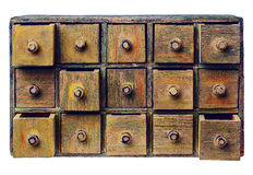 Primitive grunge drawer cabinet Royalty Free Stock Images