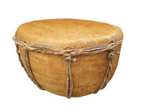 Primitive Hand Drum Isolated. Stock Images