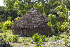 Primitive hut. On Lifou, Loyalty Islands, New Caledonia Royalty Free Stock Images
