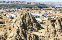 Primitive life between the mounts in Guadix, Spain Stock Photo