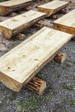 Primitive log benches, Stock Photography