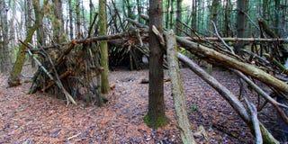 Primitive Log Shelter Illinois Royalty Free Stock Photo