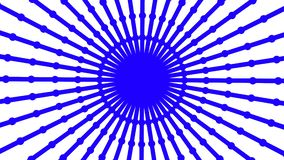 Primitive loopable animation. Geometric round shape is spinning. Animation of seamless loop stock footage