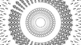 Primitive loopable animation. Geometric round shape is spinning. Animation of seamless loop royalty free illustration