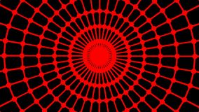 Primitive loopable animation. Geometric round shape is spinning. Animation of seamless loop stock video