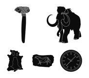 Primitive, mammoth, weapons, hammer .Stone age set collection icons in black style vector symbol stock illustration web. Primitive, mammoth, weapons, hammer Stock Images