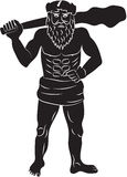 Primitive man with a big cudgel Stock Photo