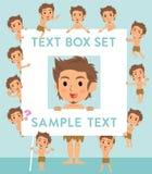Primitive man loincloth style text box Stock Photos