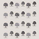 Primitive pattern. Primitive treeses a background pattern Stock Image
