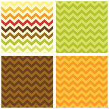 Primitive retro seamless chevron pattern in autumn colors Royalty Free Stock Photography
