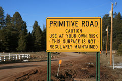 Primitive road sign Stock Photography