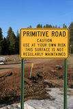 Primitive road sign Royalty Free Stock Images