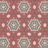 Primitive simple retro seamless pattern with stars Royalty Free Stock Photo