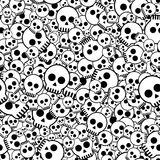 Primitive skulls. Seamless pattern with primitive skulls, illustration vector illustration