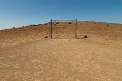 Primitive soccer court Royalty Free Stock Images