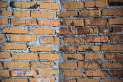 Primitive striking brick wall / background Royalty Free Stock Photos