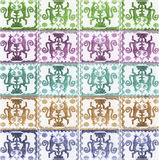Primitive Symbols Pattern Royalty Free Stock Photo