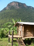 Primitive Thai Hilltribe Shed stock images