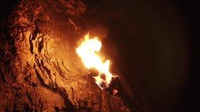 Primitive Torch in Cave