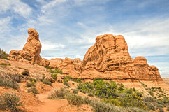 Primitive Trail in Arches National Park in Utah Stock Photo