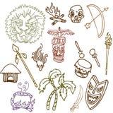 Primitive Tribal Objects Stock Photo