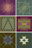 Primitive Tribal Patterns Stock Photography