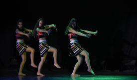 Primitive tribe-AVA copycat-The national folk dance. December 3, 2015,The first colleges and universities' dancing  competition of Jiangxi Province, sponsored by Stock Photography
