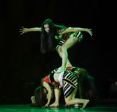 Primitive tribe-AVA copycat-The national folk dance Royalty Free Stock Photo
