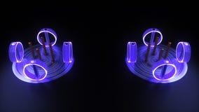 Primitive tubes rotate stock illustration