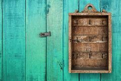 Primitive Vintage Key Cabinet Wooden Hanging Wall Box. hotel boo royalty free stock image