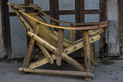 Primitive wooden chair Royalty Free Stock Image