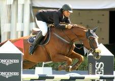 Primitivo Nieves berijdt de Overeenkomst van het Hol van de Bestelwagen van Viking van het paard Stock Fotografie