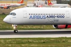 Primo Airbus A350-1000 da volare Fotografia Stock