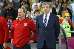 Primo allenatore della squadra di football americano di Roy Hodgson - dell'Inghilterra Fotografia Stock Libera da Diritti