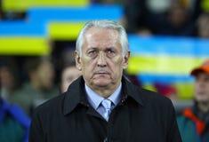 Primo allenatore della squadra di football americano nazionale Mikhail Fomenko dell'Ucraina Immagine Stock
