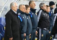 Primo allenatore della squadra di football americano nazionale Mykhailo Fomenko dell'Ucraina Fotografia Stock Libera da Diritti