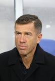 Primo allenatore della squadra di football americano nazionale Srecko Katanec della Slovenia Fotografia Stock