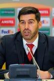 Primo allenatore di FC Braga Paulo Fonseca Fotografia Stock Libera da Diritti