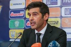 Primo allenatore di FC Shakhtar - Paolo Fonseca immagine stock