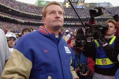 Primo allenatore Jim Fassel di New York Giants Fotografia Stock