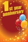 Primo anniversario Fotografie Stock
